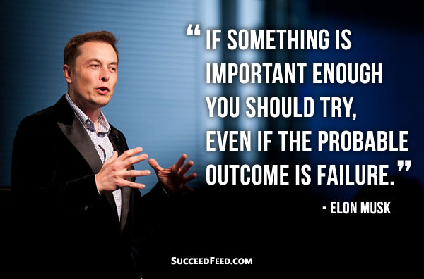 Elon Musk Quotes - If something is important enough...