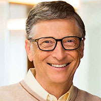 Bill Gates - One of many successful college dropouts from Harvard.